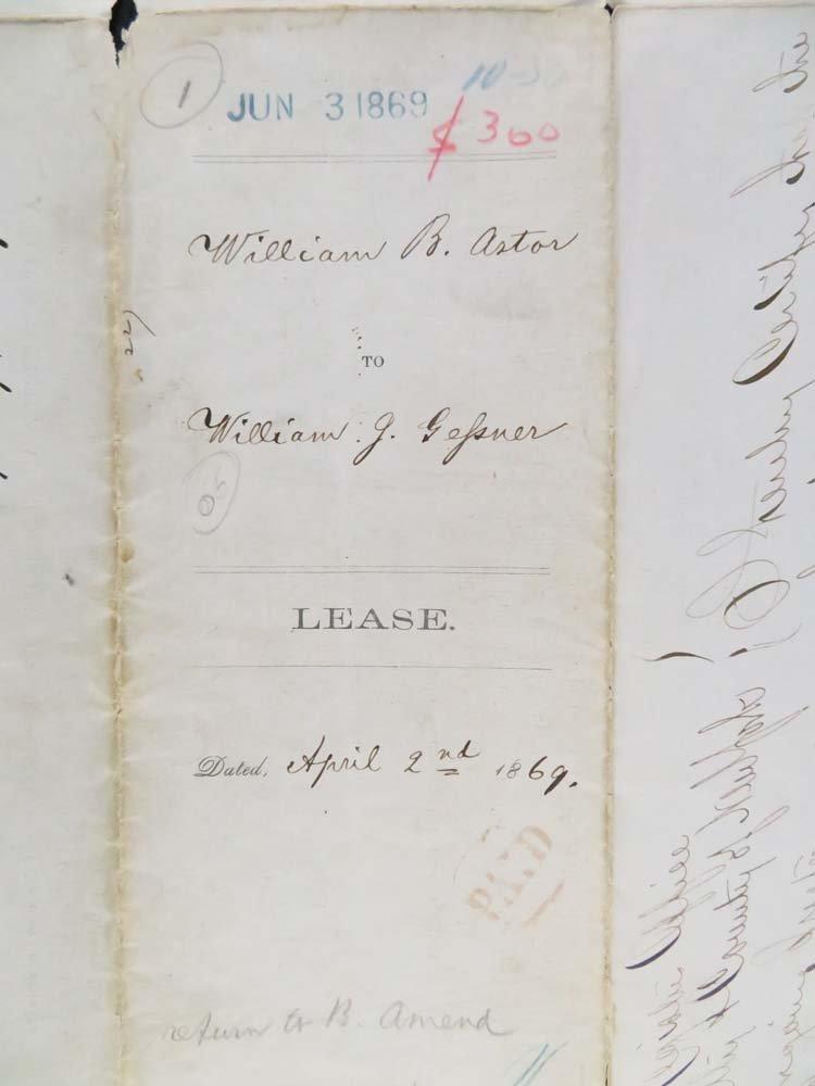 1869 Land Indenture Doc Manhattan 15th Street 1st Ave - 3