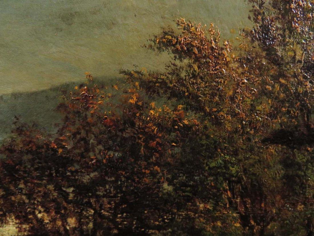AF Wust LG 30x60 Lake Landscape w/ Geese - 10