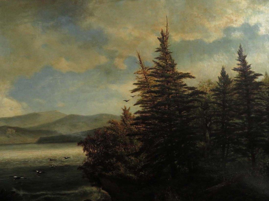 AF Wust LG 30x60 Lake Landscape w/ Geese - 4