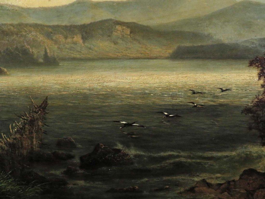 AF Wust LG 30x60 Lake Landscape w/ Geese - 6