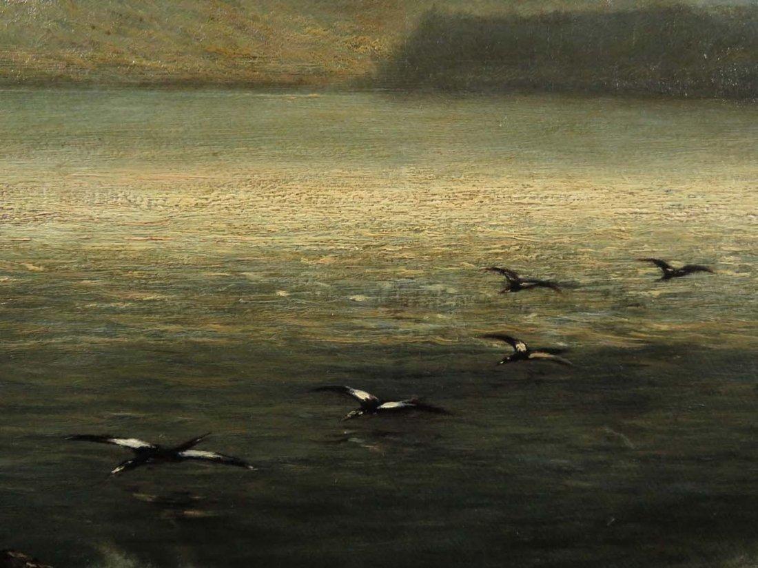 AF Wust LG 30x60 Lake Landscape w/ Geese - 9