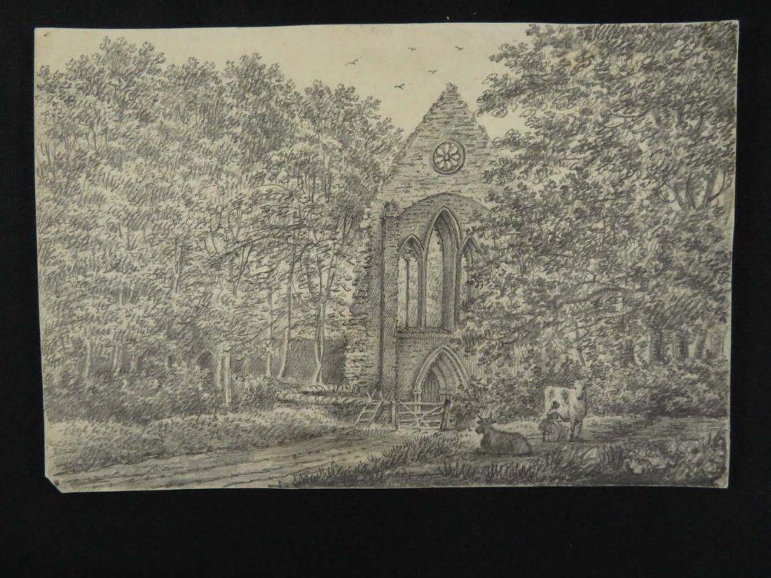 6 of 7 Master Drawings 1810 Crucis Abbey Wales UK