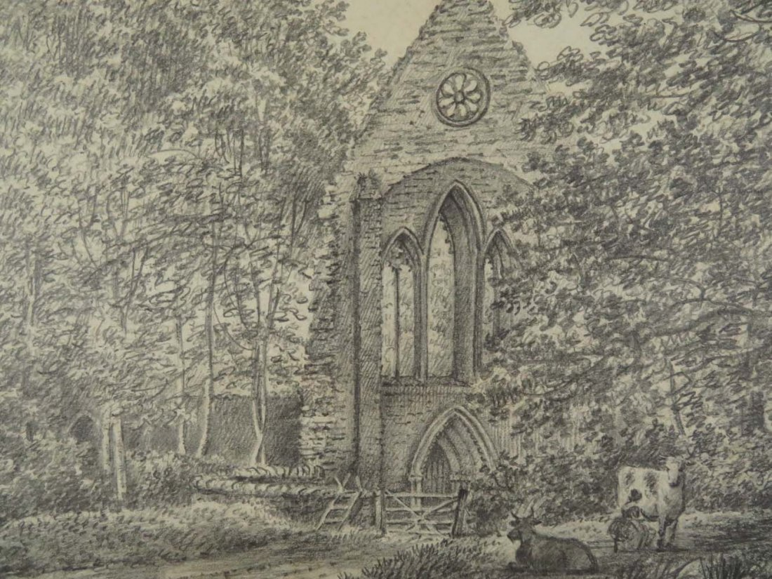 6 of 7 Master Drawings 1810 Crucis Abbey Wales UK - 2