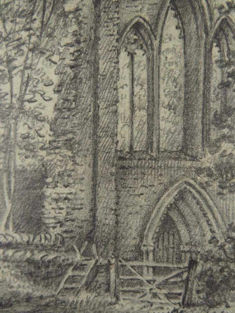 6 of 7 Master Drawings 1810 Crucis Abbey Wales UK - 3