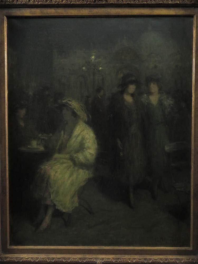 H Heyligers Impressionist Café Scene w/ Women - 2