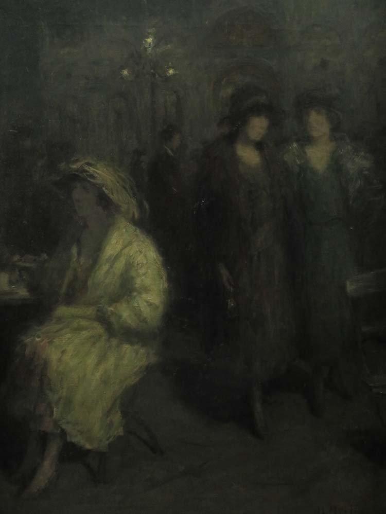 H Heyligers Impressionist Café Scene w/ Women - 3