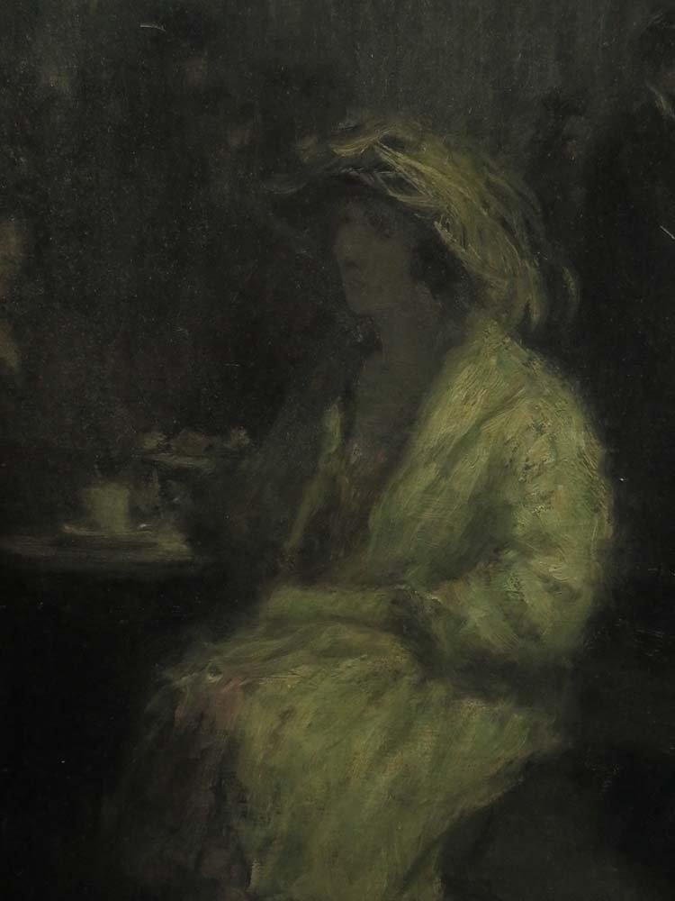 H Heyligers Impressionist Café Scene w/ Women - 4