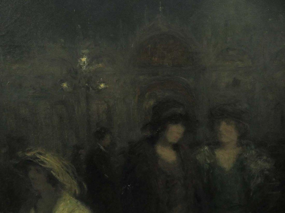 H Heyligers Impressionist Café Scene w/ Women - 5