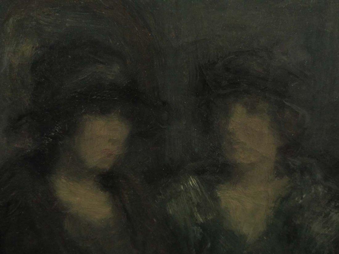 H Heyligers Impressionist Café Scene w/ Women - 8