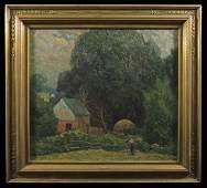 """C Krafft """"At Wildwood"""" Ozarks Landscape w/ Hunter"""