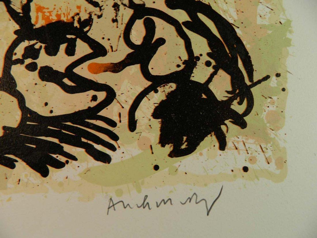 Pierre Alechinsky Belgian Abstract Flowers Cobra - 4