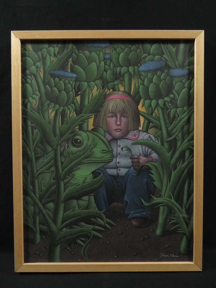 Roger Hane Surreal Illustration Girl & Frog