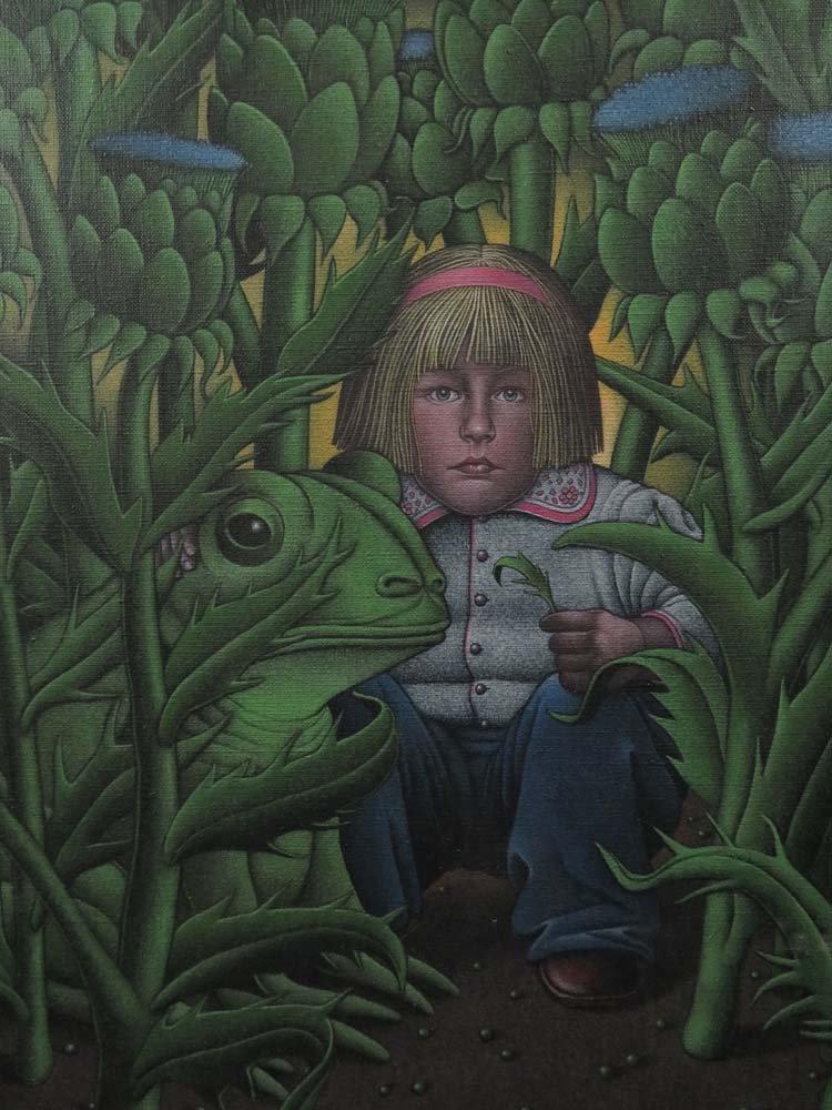 Roger Hane Surreal Illustration Girl & Frog - 2