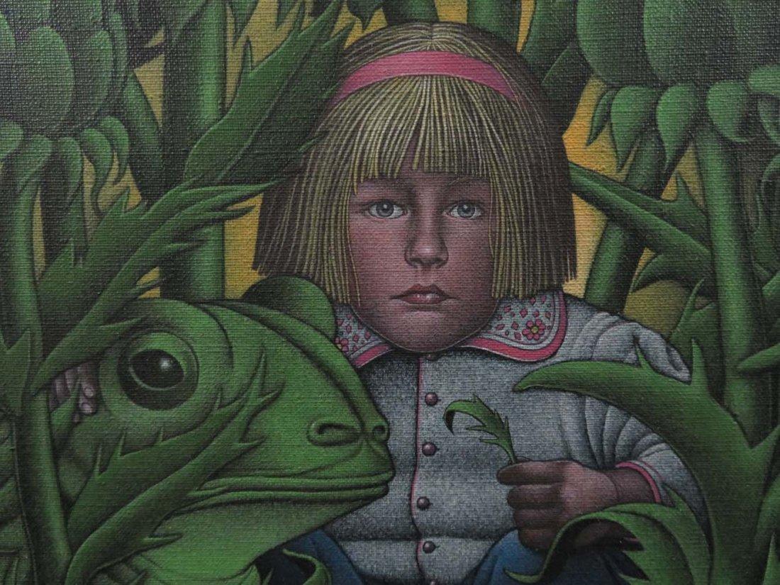 Roger Hane Surreal Illustration Girl & Frog - 3
