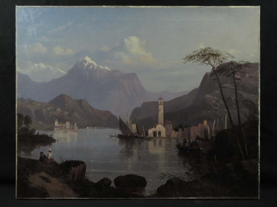 Early 1858 AT Bricher LG Lake Maggiore Italy