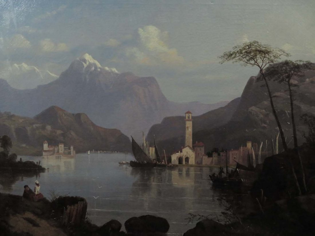 Early 1858 AT Bricher LG Lake Maggiore Italy - 2