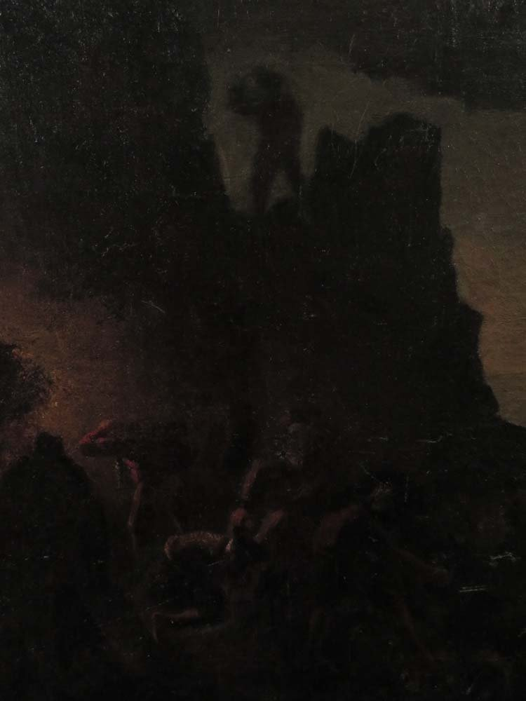 Mid 19th C American Genre Pirates Cave @ Night - 3
