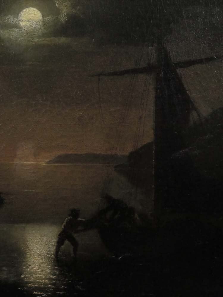 Mid 19th C American Genre Pirates Cave @ Night - 4