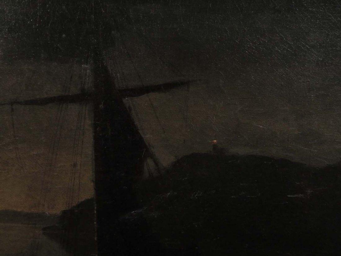 Mid 19th C American Genre Pirates Cave @ Night - 5
