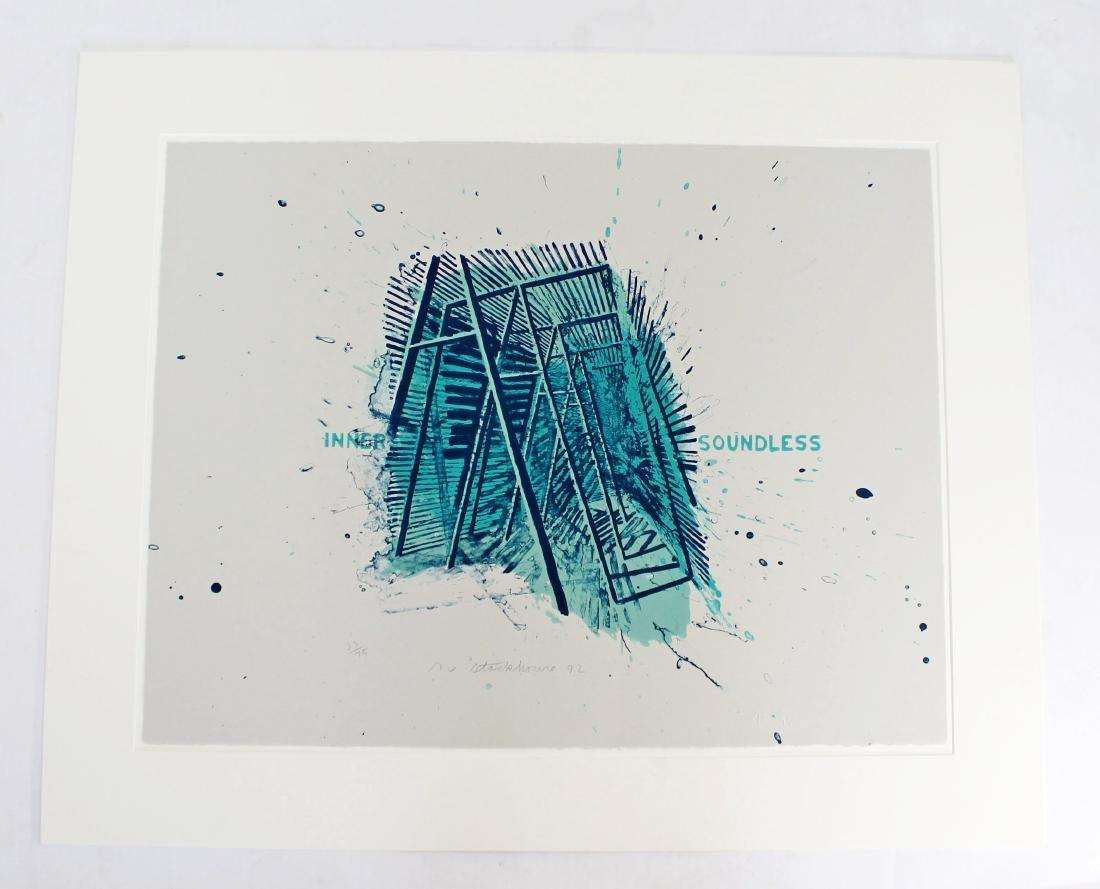 Unframed Robert Stackhouse Inner Soundless Litho 1992
