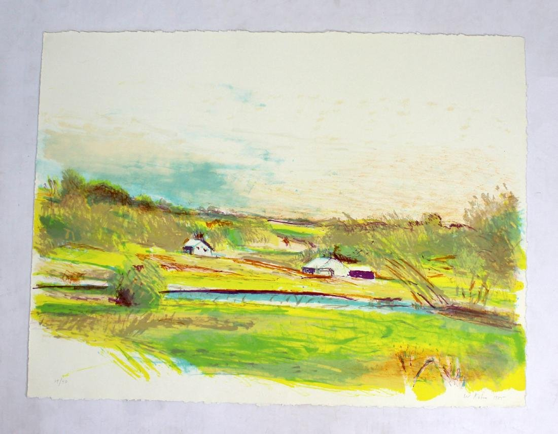Spring in Upper Connecticut Litho by Wolf Kahn 1985