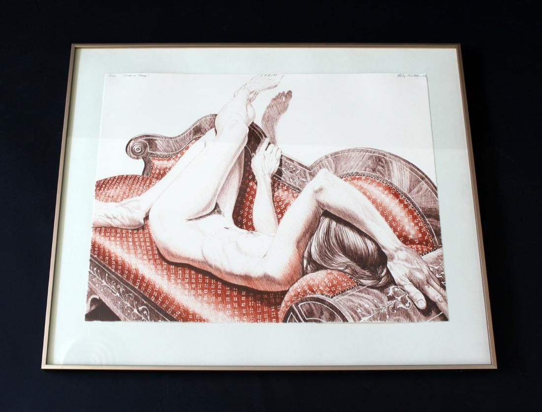 Nude Lithograph Signed Dated Philip Pearlstein 1970s