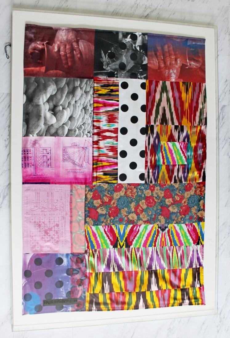 Samarkand Stitchings by Robert Rauschenberg Signed