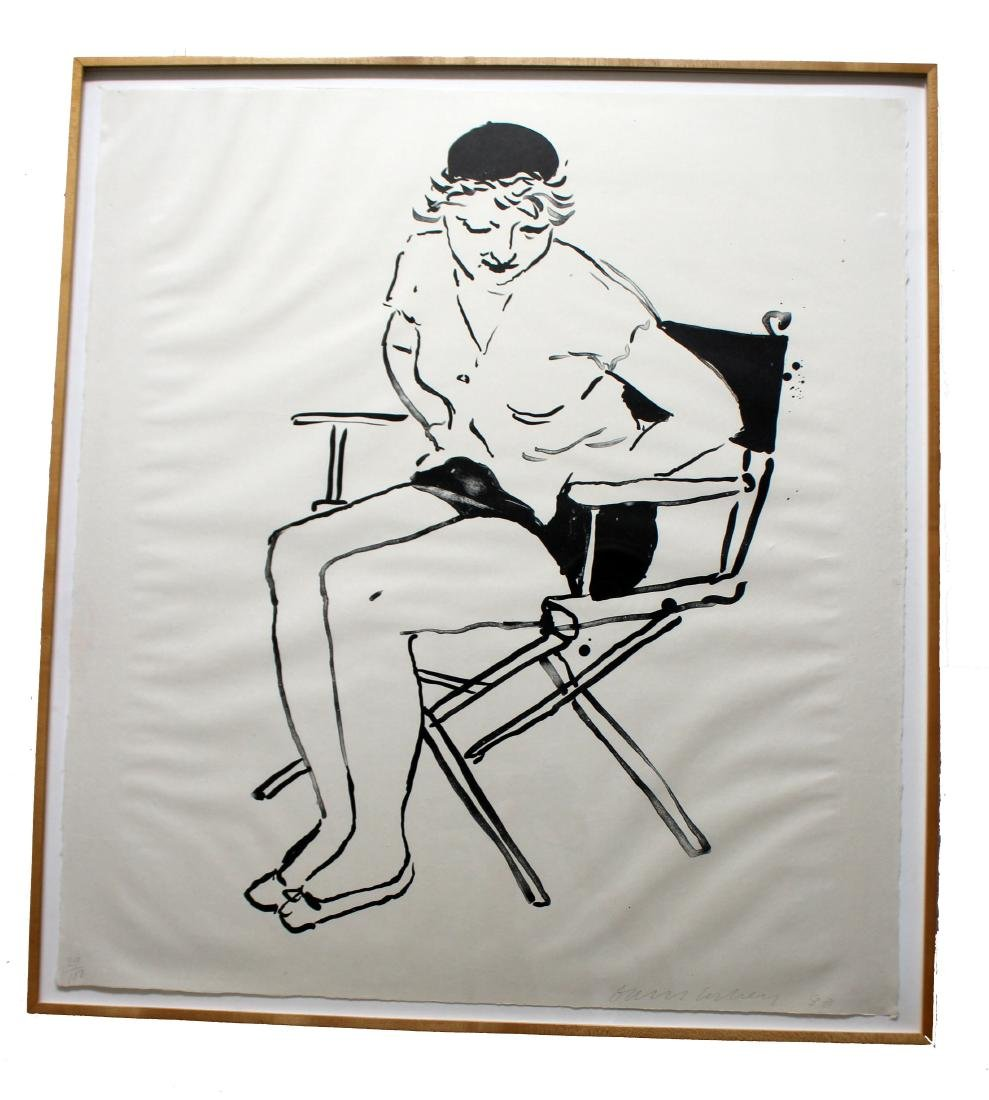 Celia in the Director's Chair Litho by David Hockney