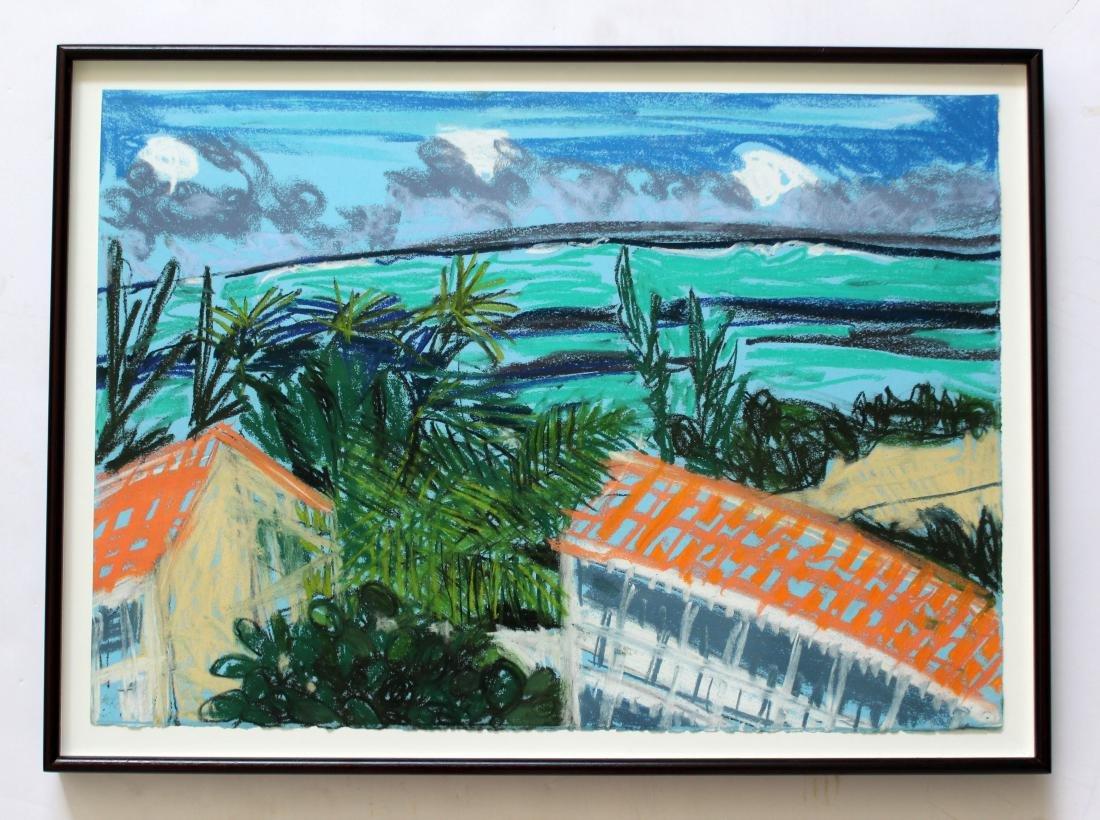 Parrot Cay #23 by Jennifer Bartlett Pastel on Paper