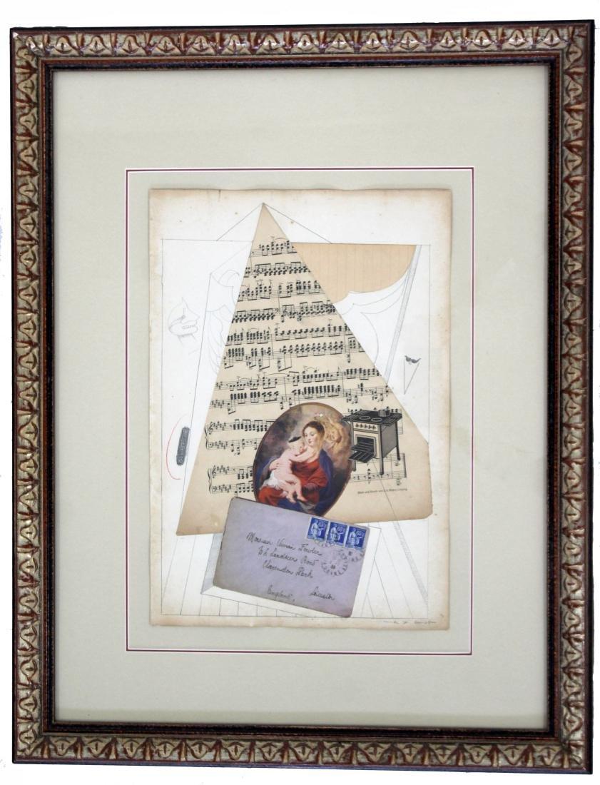 Max Ernst Collage Mixed Media Signed Original