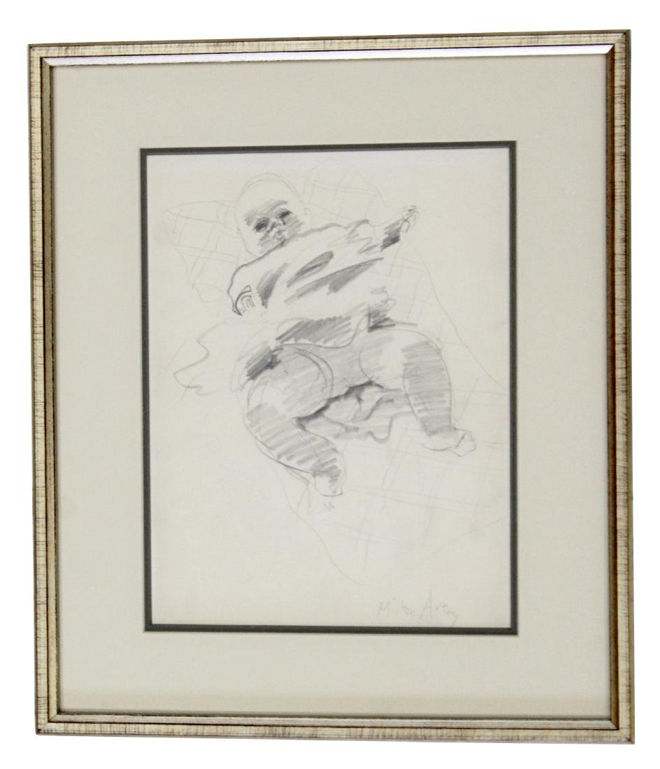 "Milton Avery Original ""March"" Pencil Drawing"