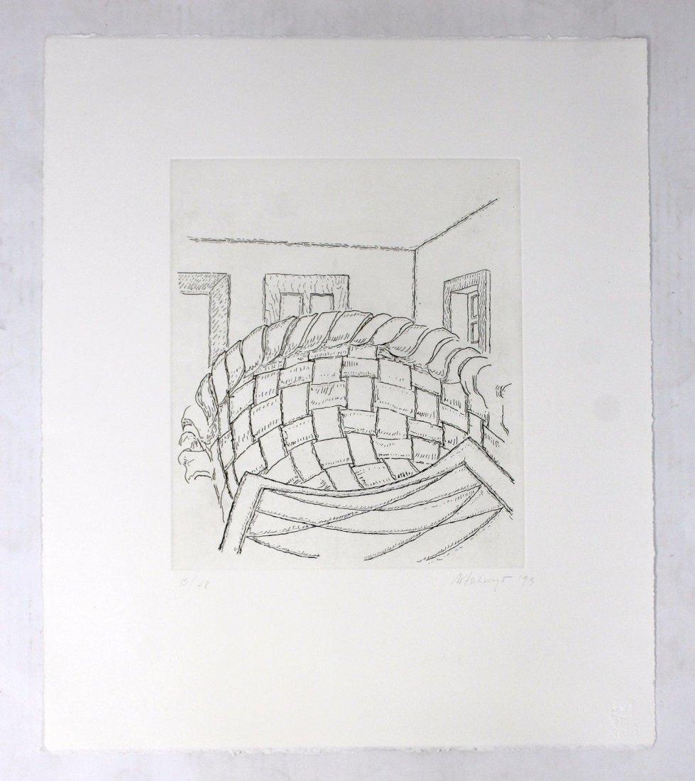 Unframed Print Signed Richard Artschwager