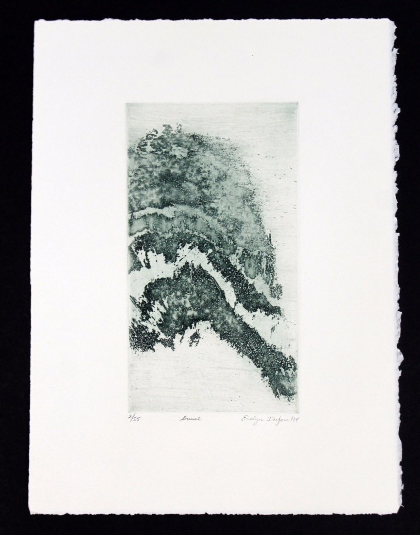 Unframed Signed Arch Velin Paper by Evelyn Dufour 1994