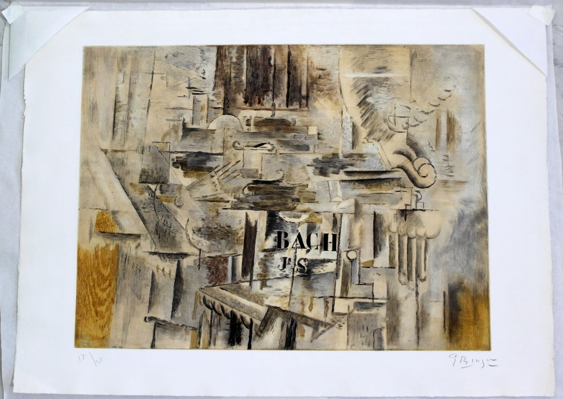 Georges Braque Signed Unframed Lithograph 12/30