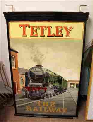 Vintage Modern Large Pub Sign The Railway Heavy