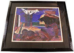 Wong Shue Serigraph Signed 184 of 225 Numbered