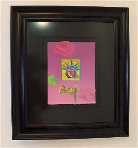 Peter Max Mid Purple Statue of Liberty Lithograph with