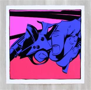 Jordan Nickel 1 Unframed Screenprint 550 Signed Pink