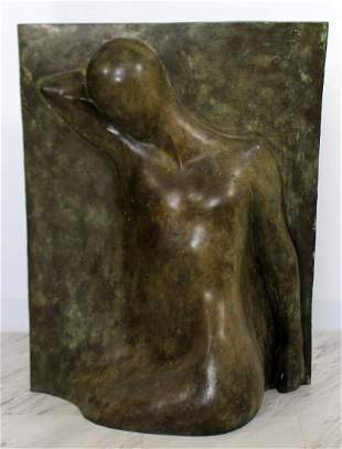 Bronze Relief Sculpture titled The Panel by Caroline