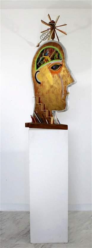2 Sided Floor Sculpture Man Signed by Dewey Blocksma