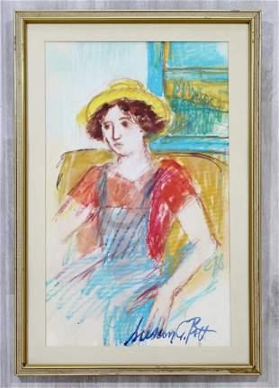 Susan Bolt Untitled Female Pastel Framed Signed