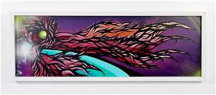 Rick Malt Untitled Spray Paint Acrylic on Panel