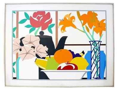 Large Framed Still Life Petunia Litho Wesselmann 52/100