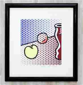 Framed Litho Still Life signed Roy Lichtenstein 1994