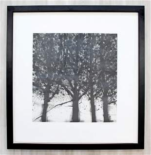 Maples Etching Signed by Katherine Bowling 1996