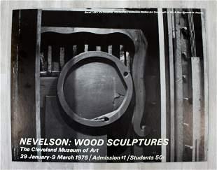 Nevelson Wood Sculptures Cleveland Art Poster 1975