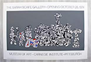 Jean Dubuffet Carnegie 1974 Poster Sarah Scaife Gallery