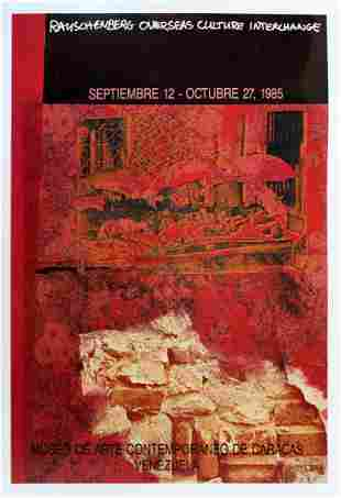 Rauschenberg 1985 Overseas Poster Venezuela