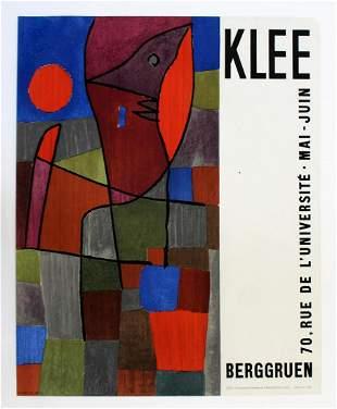 Klee Berggruen Poster Paris 1961 Orange Blue Brown