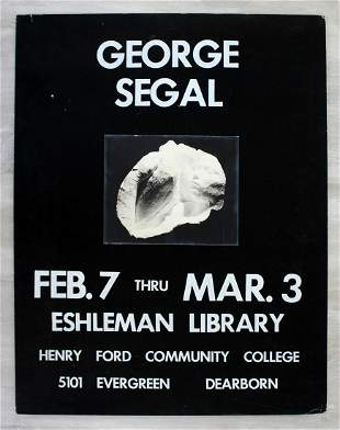 Vintage George Segal Eshleman Library Poster